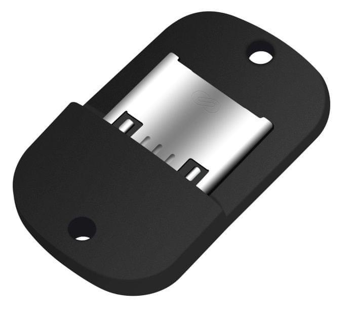 Fixed Miniaturní microUSB OTG adaptér pro mobilní telefony a tablety s pouzdrem, USB 2.0, černý FIXA