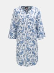 Lauren Ralph Lauren modro-bílá květovaná noční košile