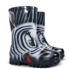 Demar Dívčí holínky Twister Print S Zebra