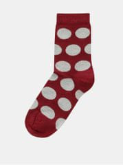 ZOOT vínové dámské puntíkované ponožky aede253a78