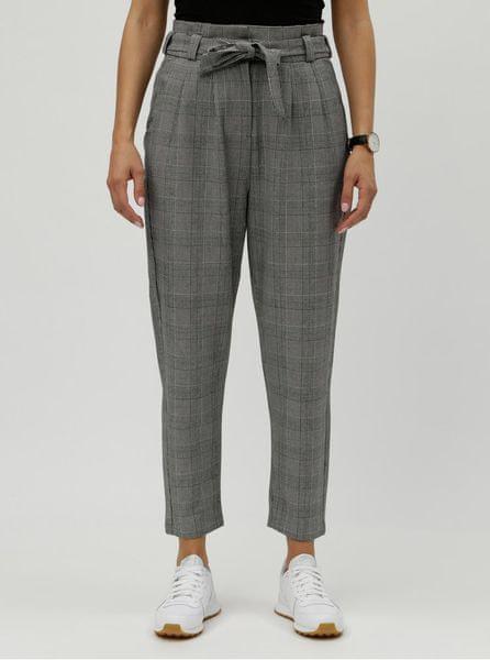 ed05e22ebe1 Vero Moda Vero Moda šedé kostkované zkrácené kalhoty s vysokým pasem M