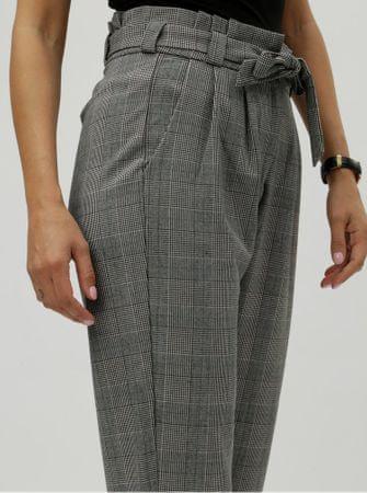 Vero Moda šedé kostkované zkrácené kalhoty s vysokým pasem M ... f85eb41027