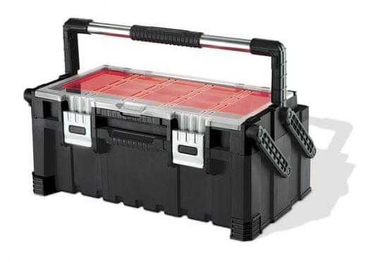 """KETER kovček za orodje Cantilever 22"""", rdeče/sivo/črn"""