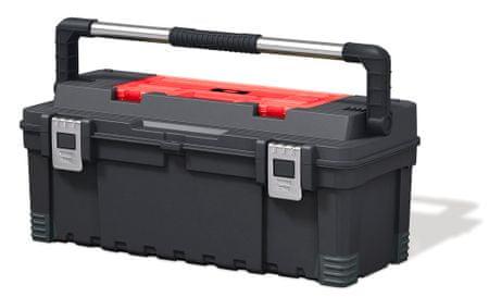"""KETER kovček za orodje Master Pro 26"""", rdeče/sivo/črn"""