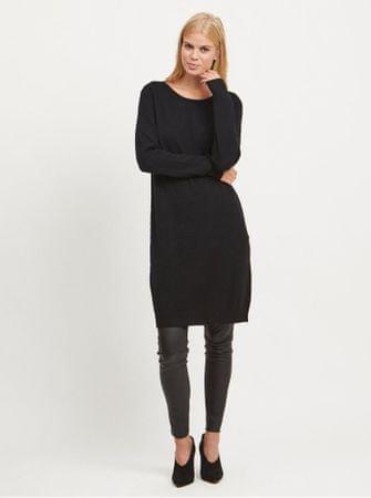 ec58b9f2d30 VILA černé svetrové šaty Ril XL