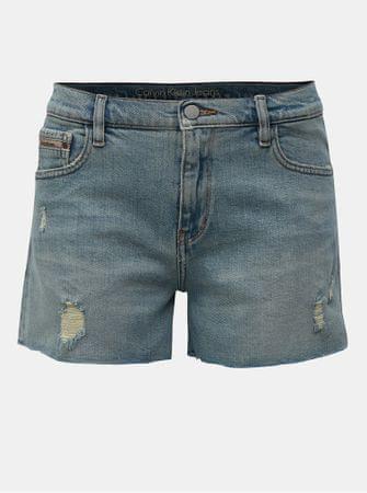 Calvin Klein Jeans světle modré džínové kraťasy s potrhaným efektem S