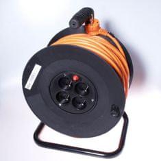 PremiumCord Prodlužovací kabel 230 V, 50 m buben, průřez vodiče 3×1,5 mm2 ppb-01-50