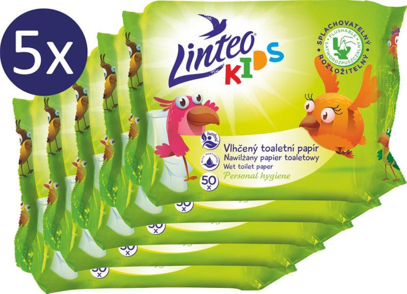 LINTEO TP vlhčené ubrousky náplň - 5 x 50 ks