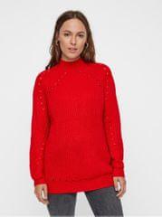 Vero Moda červený volný svetr s děrovaným vzorem Jay 0f3e010d85