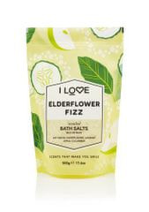 I Love Cosmetics Koupelová sůl Elderflower Fizz (Bath Salts) 500 g