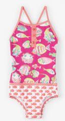 Hatley Dívčí plavky s rybičkami UV 50+ - růžové