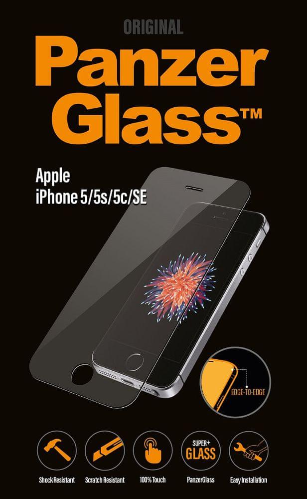 PanzerGlass Edge-to-Edge pro Apple iPhone 5/5S/5C/SE čiré (1010)