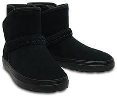 Crocs Női téli csizma LodgePoint Suede Bootie W Fekete 204798-001 0e6b07d0cc
