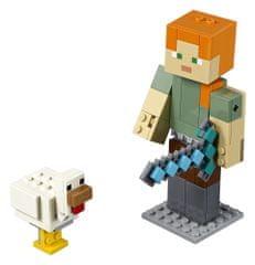 LEGO Minecraft 21149 Minecraft velká figurka: Alex s kuřetem