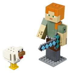 LEGO Minecraft 6251773 Minecraft velika figura: Alex s piščancem