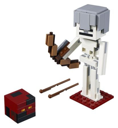 LEGO Minecraft™ 6251775 duża figurka — szkielet z kostką magmy