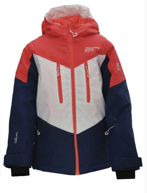 2117 dětská lyžařská bunda NYKÖPING 164 modrá/oranžová