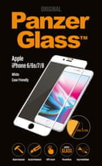 PanzerGlass Edge-to-Edge pro Apple iPhone 6/6s/7/8 bílé (2620)