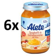 ALETE BIO špagety se zeleninou a krůtím masem - 190g