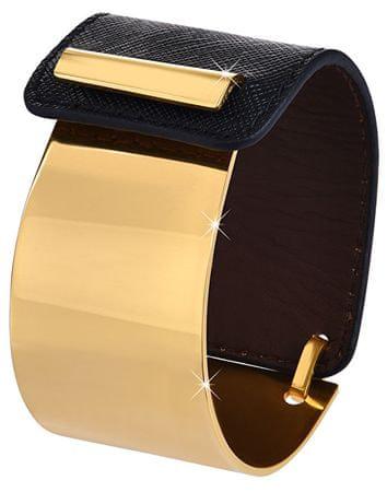 Troli Divat karperec acélból és bőrből arany / fekete