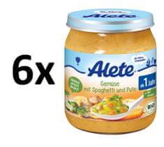 ALETE BIO zelenina + špagety s krůtím masem - 250g
