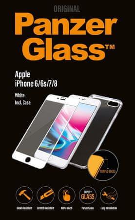 PanzerGlass Premium Bundle az Apple iPhone 6/6s/7/8 telefonokra, fehér + tok (B2616)
