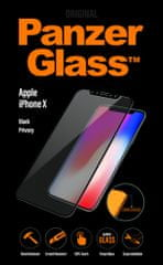 PanzerGlass zaščitno steklo Black Privacy za Apple iPhone X