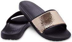 Crocs Papucs Sloane Hammered Met Slide Black/Rose Gold 205135-08O