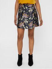 04f66dfbdb0 Vero Moda tmavě modrá květovaná rovná sukně Freya