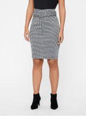 Vero Moda šedá vzorovaná pouzdrová sukně s páskem AWARE Forever