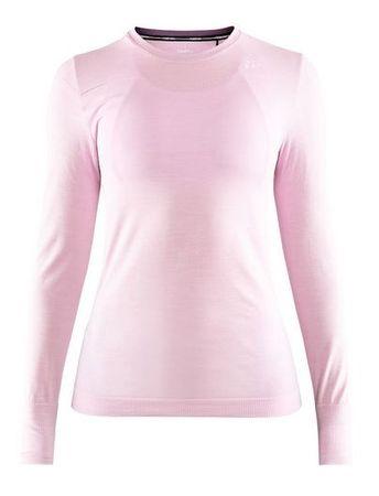 Craft ženska majica Fuseknit Comfort RN LS, XS, roza