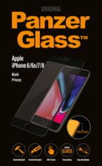 PanzerGlass Premium Privacy pro Apple iPhone 6/6s/7/8 černé P2614