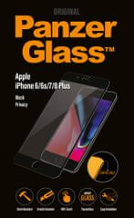 PanzerGlass Premium Privacy pro Apple iPhone 6/6s/7/8 Plus černé P2615