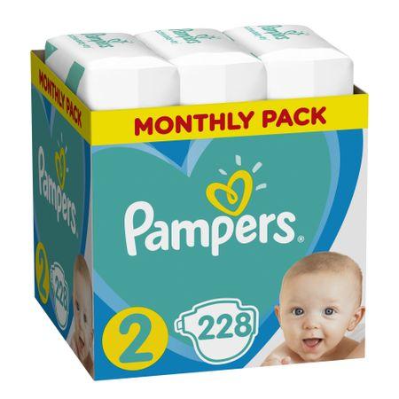 Pampers Pleny Active New Baby 2 Mini (3-6kg) Měsíční balení - 228 ks