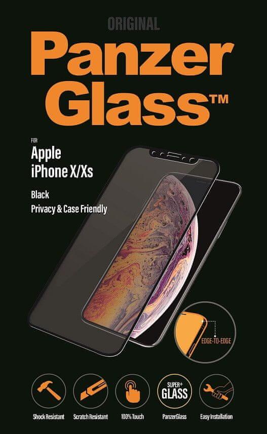 PanzerGlass Edge-to-Edge Privacy pro Apple iPhone X/Xs černé (P2632)