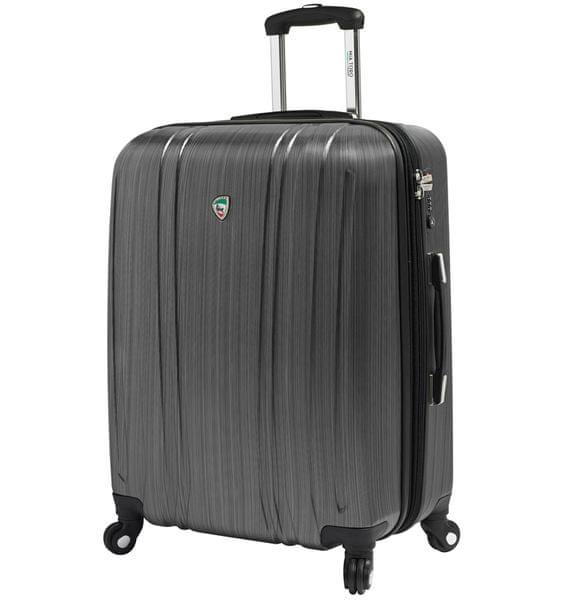 Mia Toro Cestovní kufr M1093/3-L stříbrná