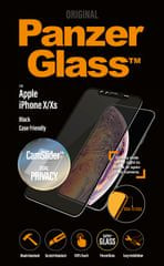 PanzerGlass Edge-to-Edge Privacy pro Apple iPhone X/Xs černé s CamSlider (P2654)