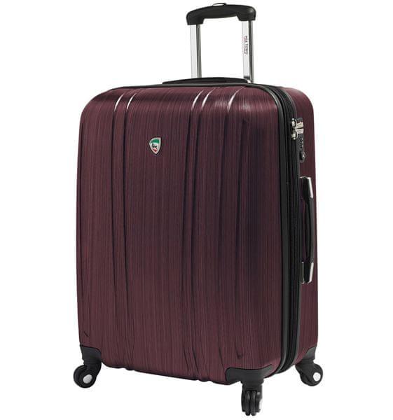 Mia Toro Cestovní kufr M1093/3-M vínová