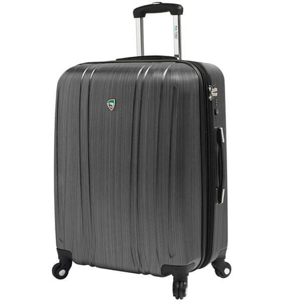 Mia Toro Cestovní kufr M1093/3-M stříbrná