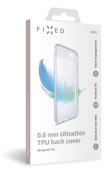 FIXED Ultratenké TPU gelové pouzdro Skin pro Huawei Y6 Prime (2018), 0,6 mm, čiré FIXTCS-294