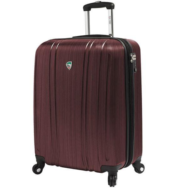 Mia Toro Cestovní kufr M1093/3-S vínová