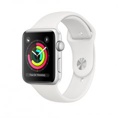 Apple Watch Series 3 GPS, 42mm Silver Aluminium Case with White Sport Band (MTF22CN/A)