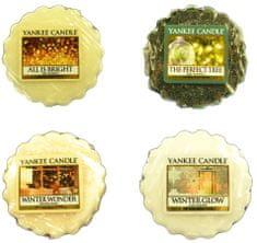 Yankee Candle Sada vonných vosků 4 ks All is Bright / The Perfect Tree / Winter Glow / Winter Wonder