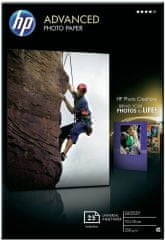 HP Foto papír Advanced Photo Paper, Glossy, 10 x 15cm, 25 listů (Q8691A)