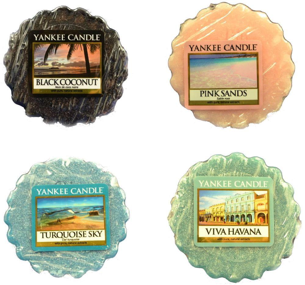 Yankee Candle Sada vonných vosků 4 ks Black Coconut / Pink Sands / Tourquoise Sky / Viva Havana