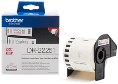Brother termalne naljepnice DK22251, 2-barvni tisak, 62 mm x 15,24 m