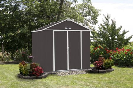 Arrow zahradní domek ARROW EZEE SHED 87 tmavě šedý