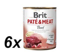 Brit Paté & Meat Beef 6x800g
