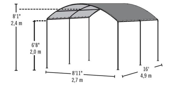 ShelterLogic zadaszenie plandekowe MONARC 25866EU