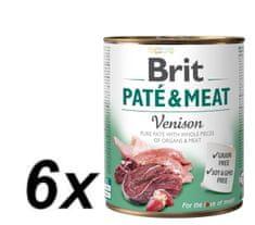 Brit Paté & Meat Venison 6x800g